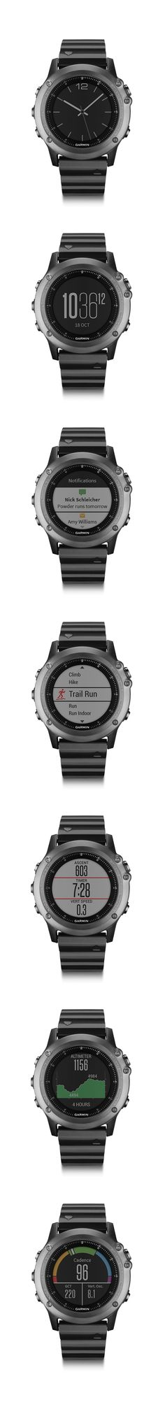 Fenix 3 Sapphire. World's first adventure sport training Garmin GPS/GLONASS watch. #Fenix3