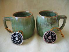 Vintage Huronia Pottery mugs