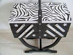 #DIY Impressions zèbre pour# travailleuse relookée