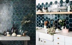 50 Stunning Pattern Interior Design - Modern Home Design Kitchen Cabinet Layout, Kitchen Wall Tiles, Kitchen Backsplash, Backsplash Ideas, Floors Kitchen, Kitchen Cabinets, Countertop, Kitchen Sink, Kitchen Island