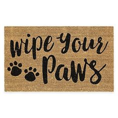 The Mohawk Home Wipe Your Paws Coir Door Mat is a perfect way to dress up your home's entrance and catch any sand and dirt. Features a cute design for families that love their furry little friend.