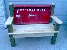 International Scout Tailgate Bench by TailgateGuy on Etsy, $475.00