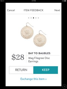 Stitch Fix Fashion Accessories 2017! Ask your stylist for something like this in your next fix, delivered right to your door! #sponsored #StitchFix Bay to Bauble Mag Filagree earrings