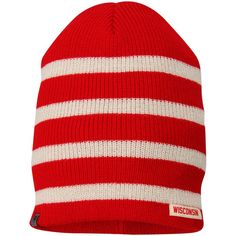 Wisconsin Badgers Top of the World Women s Rainbow Knit Beanie - Red 69376aac09cc