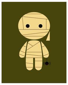 Items similar to Mummy- 8 X 10 Digital Print on Etsy Halloween Artwork, Halloween Skeletons, Halloween Crafts, Illustrations, Graphic Illustration, Halloween Illustration, Historical Art, Egyptian Art, Art For Kids