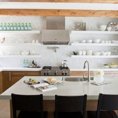 Kitchen Photos Floating Shelves Design Ideas, Pictures, Remodel, and Decor - page 4
