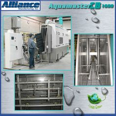Parts cleaning of plastic trays for the automotive industry. (338)