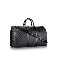 LOUIS VUITTON Official USA Website - Discover the classic Louis Vuitton Keepall 55 Bandoulière in Damier Graphite canvas for a stylish yet resistant & light bag Louis Vuitton Keepall 55, Sacs Louis Vuiton, Louis Vuitton Usa, Pre Owned Louis Vuitton, Louis Vuitton Handbags, Cheap Handbags, Designer Travel Bags, Canvas Travel Bag, Canvas Bags