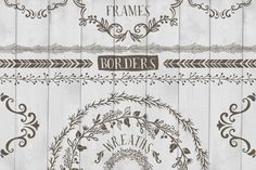 FREE DOWNLOAD! Frames, Wreaths and Borders by Cocoa Mint on Creative Market