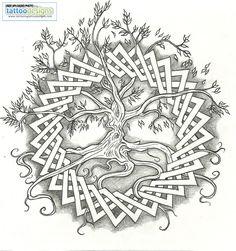 Higher Resolution Celtic Tree Of Life By Vizualassassin