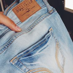 Hollister light wash jeans! Xx