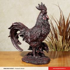Made in the USA of hand-cast bonded composite resin, the Esme the Rooster Sculpture will give you the country touch you've been looking for in your kitchen. Animal Sculptures, Lion Sculpture, Old World Kitchens, Home Decor Kitchen, Kitchen Ideas, Kitchen Design, Rooster Kitchen, Rooster Decor, Galo