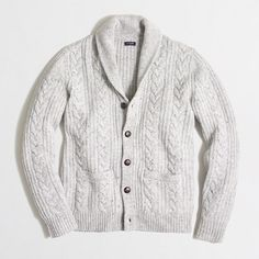 8c4b137ca52 Donegal cable-knit cardigan sweater