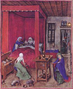 The Birth of John the Baptist by Jan van Eyck Jan Van Eyck Paintings, Renaissance, Ghent Altarpiece, Medieval Furniture, Hieronymus Bosch, Medieval Life, John The Baptist, Art Challenge, Outdoor Art