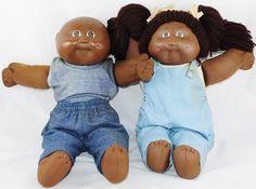 Black African American 1982 Xavier Roberts Cabbage Patch Kids Doll Girl Boy Twin | eBay