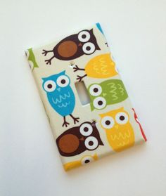 Owl Light Switch Plate Cover / Jumbo / Baby Nursery by SSKDesigns, $7.00