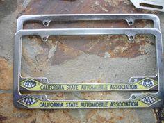 1950's -1960's California State Automobile Association License Frame