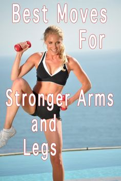 Work out your entire body while toning your arms and legs. 3-5 lb dumbbells