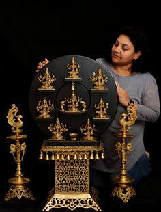 Pooja Room Door Design, Home Room Design, Dream Home Design, Temple Design For Home, Silver Pooja Items, Pooja Mandir, Shiva Lord Wallpapers, Ethnic Home Decor, Indian Home Interior