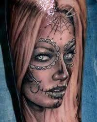 Αποτέλεσμα εικόνας για Popular Day Of The Dead Tattoos