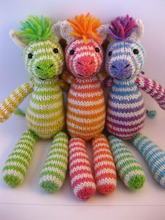 These zebras were so popular that I ended up opening an etsy shop to sell these guys and other toys. If you're interested, you can visit my shop, Sugar Pear Stitches, here. Love love love this pa. Knitting For Kids, Loom Knitting, Knitting Projects, Baby Knitting, Crochet Projects, Knitting Patterns, Crochet Patterns, Bear Patterns, Knitting Toys