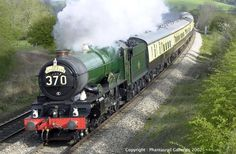 "The 8:14 a.m. Birmingham Snow Hill to Paddington ""Inter City"" Special ~ Vintage Railway, England"
