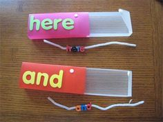 Heidisongs Resource: Sight Word String-Ups. Great use for those pencil boxes! Teaching Sight Words, Sight Word Practice, Sight Word Games, Sight Word Activities, Literacy Activities, Literacy Centers, Literacy Stations, Language Activities, Word Work Centers