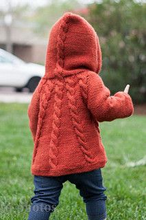 Kapuzin is a seamless top down cabled hoodie for boys and girls. Pattern includes optional pockets.