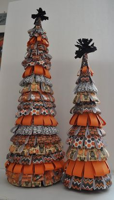 DIY Halloween Trees, same can be done for Christmas, cute idea!