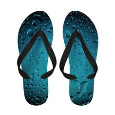 Cool Blue water drops Sandals  #flipflops #shoes #accessories #fashion