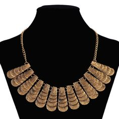 Roman style gold  brass necklace,statement necklace,chunky necklace, layers necklace, by JewelryhoneyStudio on Etsy https://www.etsy.com/listing/197206807/roman-style-gold-brass-necklacestatement