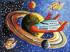 Картинки по запросу ко дню космонавтики рисунки