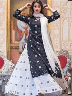 Dupatta Sets Women's Printed White Rayon Kurta Set with Skirt Kurta Fabric: Rayon Bottomwear Fabric: Cotton Fabric: Silk Sleeve Length: Three-Quarter Sleeves Set Type: Kurta With Dupatta And Bottomwear Bottom Type: Skirt Pattern: Printed Multipack: Single Sizes: XL (Bust Size: 42 in Kurta Length Size: 45 in Bottom Waist Size: 34 in Bottom Length Size: 38 in Duppatta Length Size: 2.15 m)  L (Bust Size: 40 in Kurta Length Size: 45 in Bottom Waist Size: 32 in Bottom Length Size: 38 in Duppatta Length Size: 2.15 m)  M (Bust Size: 38 in Kurta Length Size: 45 in Bottom Waist Size: 30 in Bottom Length Size: 38 in Duppatta Length Size: 2.15 m)  XXL (Bust Size: 44 in Kurta Length Size: 45 in Bottom Waist Size: 34 in Bottom Length Size: 38 in Duppatta Length Size: 2.15 m) Country of Origin: India Sizes Available: M, L, XL, XXL   Catalog Rating: ★3.9 (475)  Catalog Name: Women Rayon A-line Printed Long Kurti With Palazzos And Dupatta CatalogID_808691 C74-SC1853 Code: 985-5425511-3351