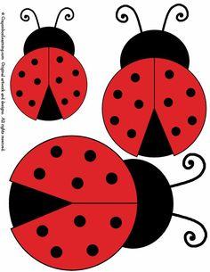 ladybird outline printable - Google Search