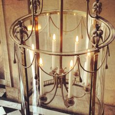 Lights in petit Trianon palace at versailles