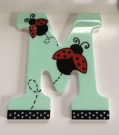 100% hand painted, Perfect letters to decorate ur child's room. $15,00