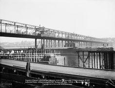First Steel Bridge, Built 1888, photo circa 1900 Willamete River
