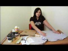 How to Silkscreen a T-Shirt : Preparing a T-Shirt for  Silkscreening