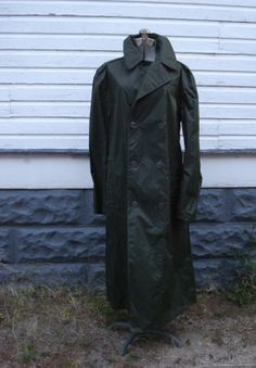 Vintage 1960s Mens Raincoat Military Trench Coat  by bycinbyhand, $48.00