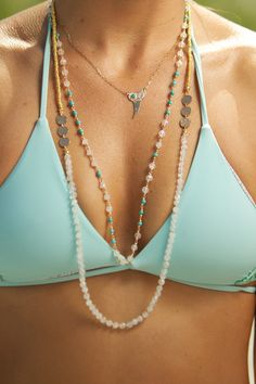 Blu-Nomad necklace mix perfect for summer. For MORE SUMMER fashion ideas FOLLOW http://www.pinterest.com/happygolicky/summer-style-jewelry-clothing-swimsuits-accessorie/