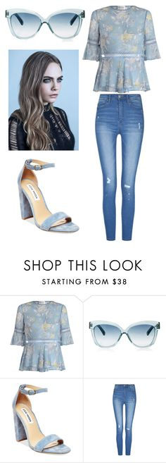 """""""Untitled #487"""" by emmalineavery on Polyvore featuring Zimmermann, Linda Farrow and Steve Madden"""
