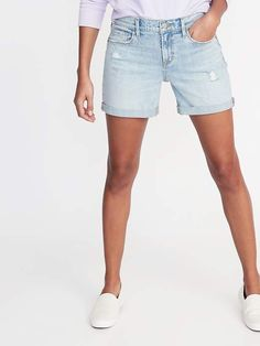 2751e49bea Old Navy Slim Distressed Denim Shorts for Women - 5-inch inseam Old Navy  Outfits