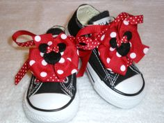 Mini Minnie Mouse Bows and Laces for Shoes