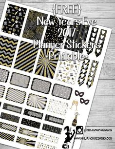 {FREE} New Year's Eve Planner Sticker Printable