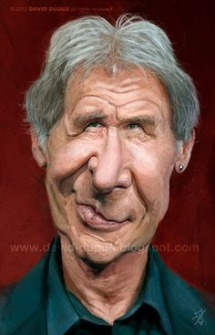 Caricature of Harrison Ford. Cartoon People, Cartoon Faces, Funny Faces, Cartoon Art, Funny Caricatures, Celebrity Caricatures, Celebrity Drawings, Caricature Artist, Caricature Drawing