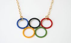 Olympic rings necklace #London2012