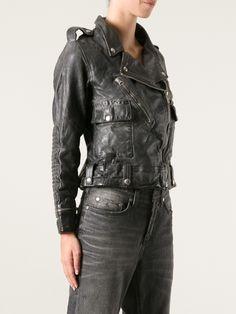 Golden Goose Deluxe Brand Worn Leather Biker Jacket - Soho-soho - Farfetch.com