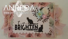 """Today a real """"cat"""" ticket! Brighten Your Day, Tim Holtz, Paper Crafting, Ticket, Bunnies, Coasters, Blessed, Bloom, Cat"""