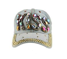 f5118908d64 Kiss Distressed Cowgirl Denim Caps For Women Denim Cap
