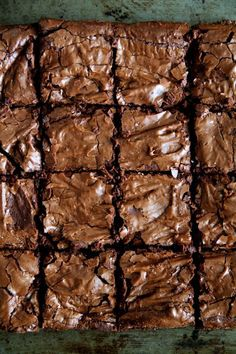 Flourless Double Chocolate Brownies - naturally gluten-free and made without beans! || runningwithspoons.com: